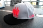 Preview: Snapback Cap Caps Low is a Lifestyle LIAL grau neon-rot