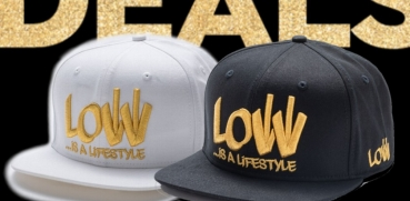 Snapback Cap Caps Low is a Lifestyle LIAL BLACK + WHITE GOLD - Partner Look
